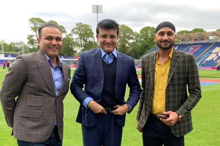 Virender Sehwag, Sourav Ganguly and Harbhajan Singh