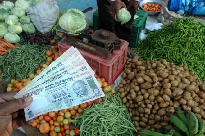 The jump in the retail inflation based on Consumer Price