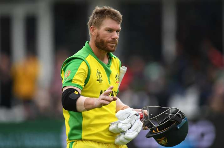 Warner become first player to breach 500 runs in CWC 2019, Finch misses out by three runs