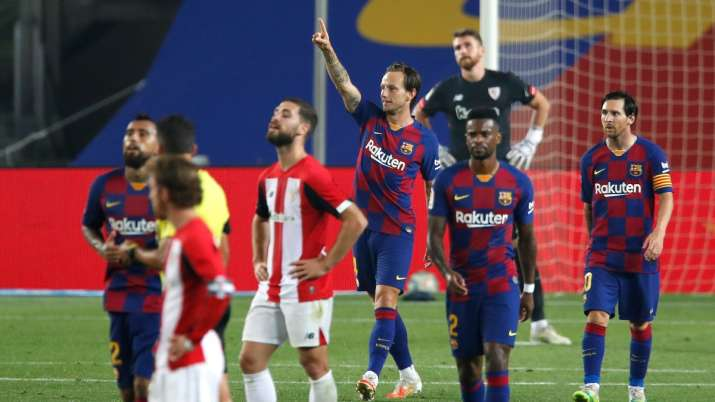 La Liga: Barcelona beat Athletic 1-0 to move back in front of Real Madrid