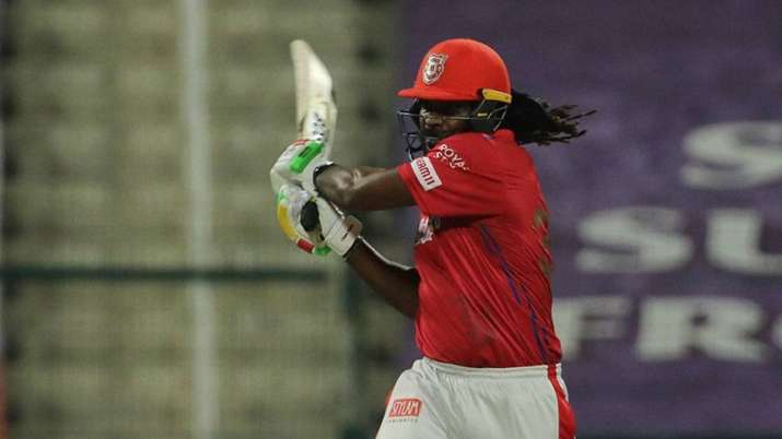 Chris Gayle was dismissed on 99 by Jofra Archer during the Friday night's match in IPL 2020.