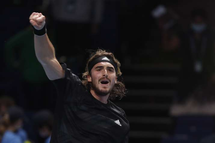 The Greek player had played a tough three-set match against