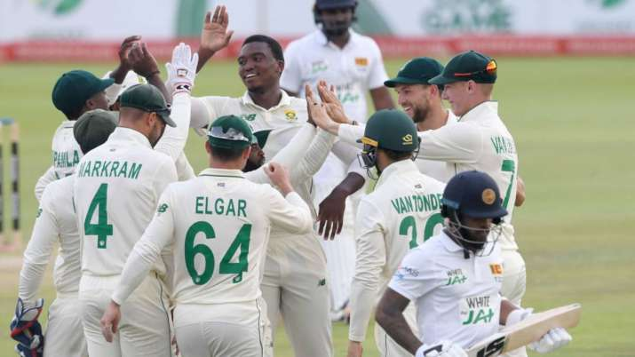 Sri Lanka were bundled out for 180 on Day 4 with the hosts'