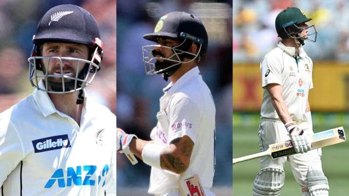 Kane Williamson, Virat Kohli and Steve Smith