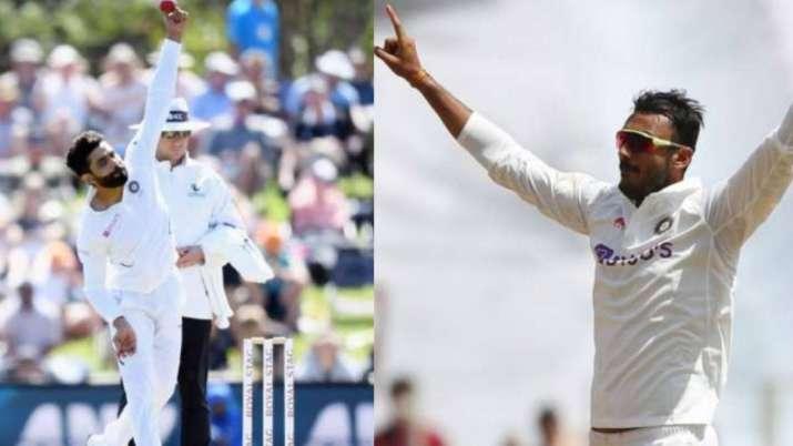 Ravindra Jadeja and Axar Patel, IND Test team