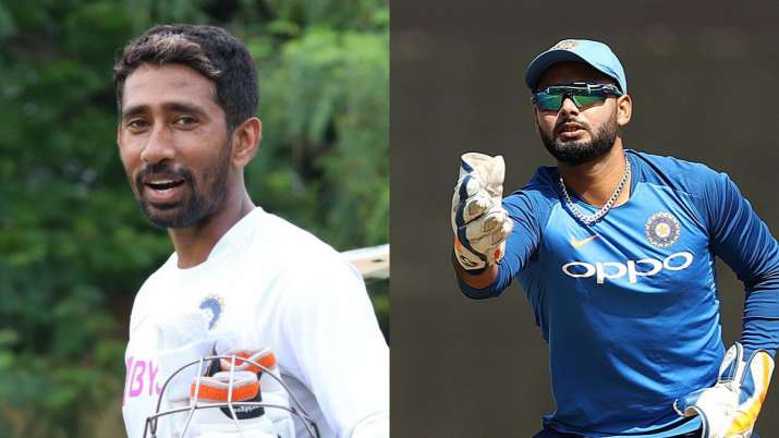 Wriddhiman Saha and Rishabh Pant
