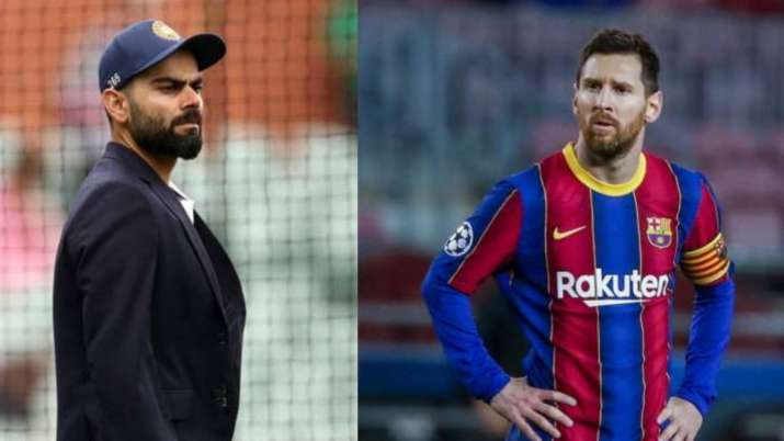 Virat Kohli and Lionel Messi