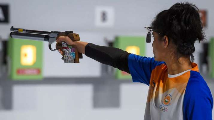 File photo of Indian star shooter Manu Bhaker.