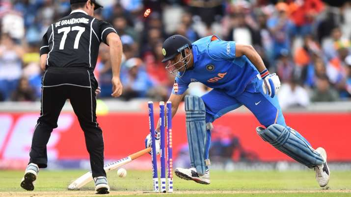 MS Dhoni in 2019 World Cup semi-final against New Zealand
