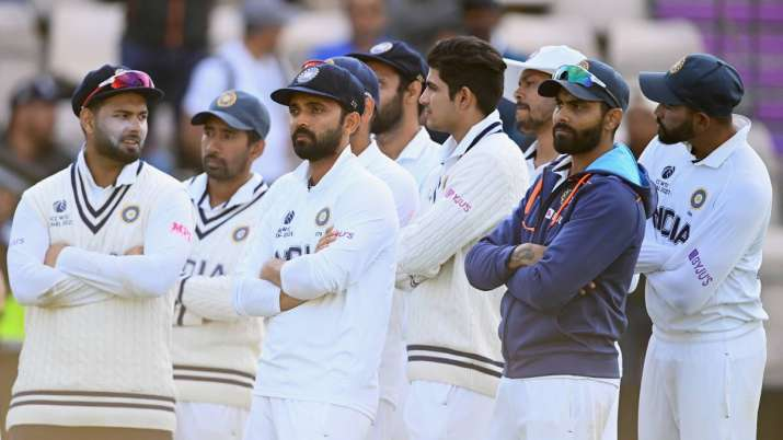 File photo of dejected Indian players after losing WTC final to New Zealand.
