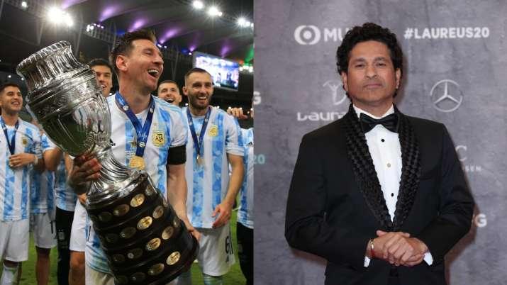 'Continue inspiring': Sachin Tendulkar congratulates Lionel Messi and Argentina for Copa America win