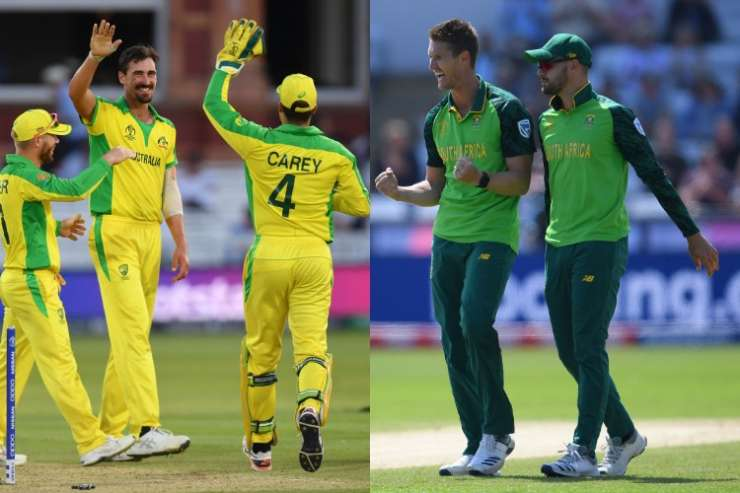Image result for australia vs south africa world cup 2019